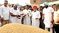Manish Tewari interacting with farmers, who has comes to Grain Market to sold their paddy, during his visit to Mullanpur Grain Market of Ludhiana Distt., Punjab. The Ex Minister of Punjab.jpg
