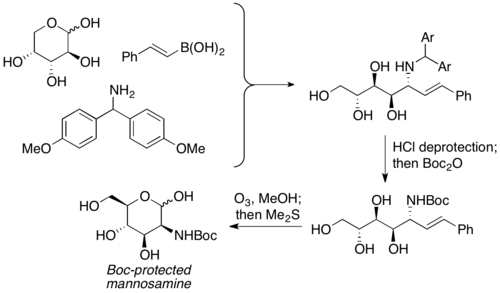 synthesis of Boc-protected Mannosammine
