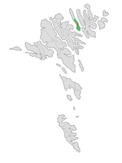 Location of Húsa Municipality in the Faroe Islands