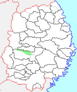Location of Ishidoriya in Iwate Prefecture