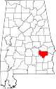 Map of Alabama highlighting Bullock County.svg