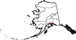 Location of Anchorage within Alaska