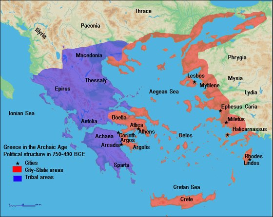 Greece in the Archaic Age. Political structure in 750–490 BCE