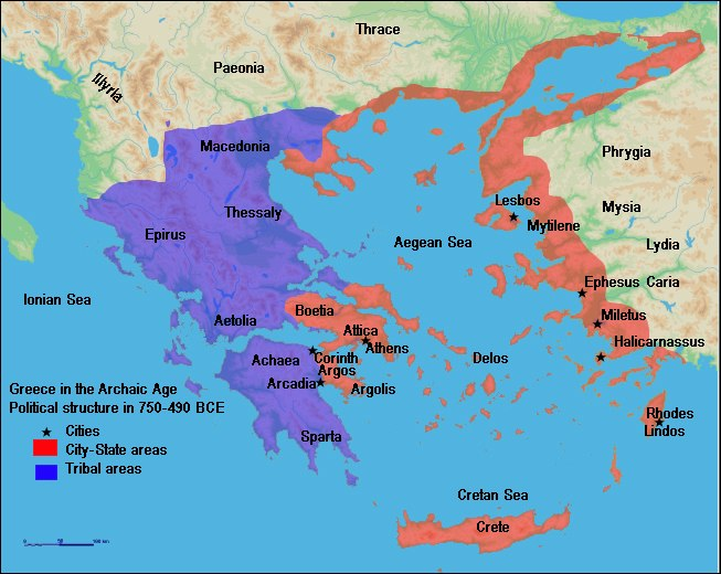 Map of Archaic Greece (English)