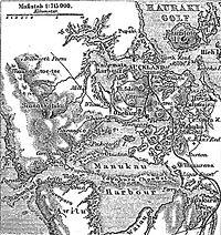 Carte allemande d'Auckland en 1888