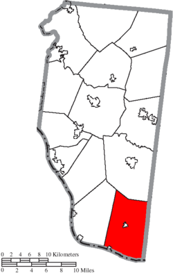 Location of Franklin Township in Clermont County