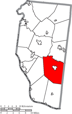 Location of Tate Township in Clermont County