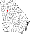 Map of Georgia highlighting Clayton County.svg