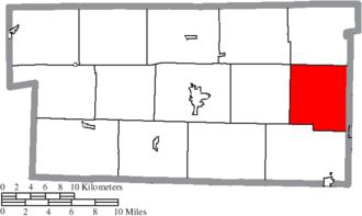 Walnut Creek Township, Holmes County, Ohio - Image: Map of Holmes County Ohio Highlighting Walnut Creek Township
