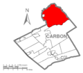 Map of Kidder Township, Carbon County, Pennsylvania Highlighted.png