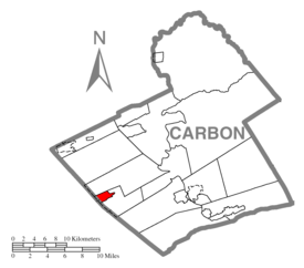 Map of Lansford, Carbon County, Pennsylvania Highlighted.png
