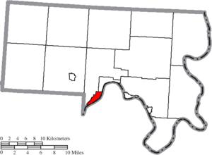 Middleport, Ohio - Image: Map of Meigs County Ohio Highlighting Middleport Village