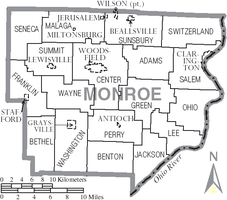 Municipalities and townships of Monroe County