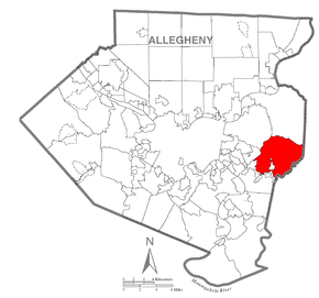 Map of Municipality of Monroeville, Allegheny County, Pennsylvania Highlighted.png