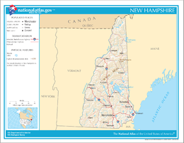 New Hampshire – Mappa