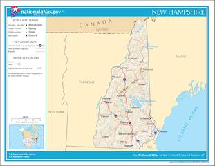 Landkarte von New Hampshire