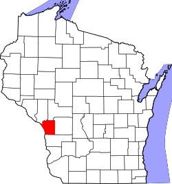 map of Wisconsin highlighting La Crosse County