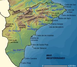 Map Of Spain Alicante Area.Province Of Alicante Wikipedia