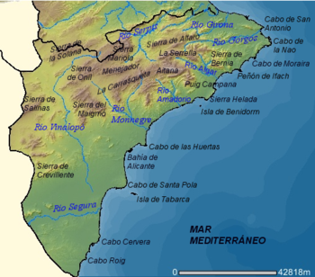 Mapa Rios Comunidad Valenciana.Geografia De La Comunidad Valenciana Wikiwand
