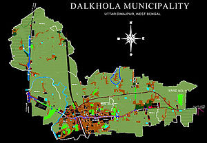 Dalkhola - Geographical map of Dalkhola