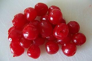 Maraschino cherry Preserved, sweetened cherry