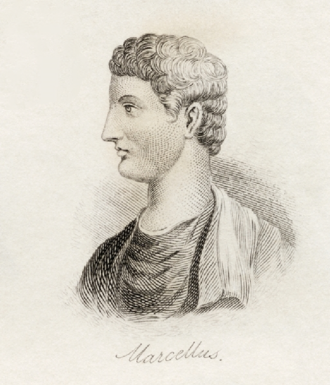 Marcus Claudius Marcellus - Drawing of Marcus Claudius Marcellus in Universal Historical Dictionary by George Crabb