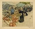 Marché à la vaisselle 1911, eau-forte en couleur, Tavik- Frantisek SIMON.jpg