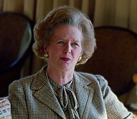 Margaret Thatcher was the first woman to serve as British Prime Minister, holding the office from 1979 to 1990. Photographed 1984.
