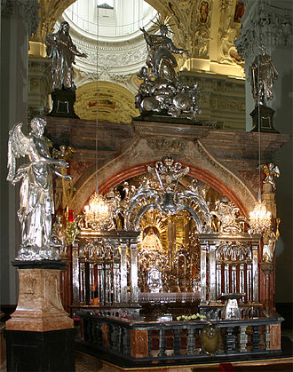 Catholic Marian church buildings - Altar of Mariazell Basilica, the most popular shrine in Austria