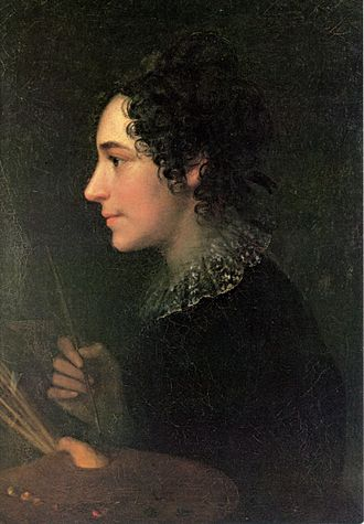 Marie Ellenrieder - Self portrait as a painter, 1819