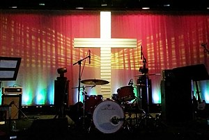 Mark Driscoll - The indie-rock worship band's soundstage at Mars Hill Church's Ballard location (2013)