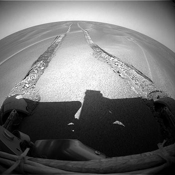 Opportunity stuck in sand dune