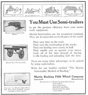 Semi-trailer - A 1920 advertisement for semi-trailers