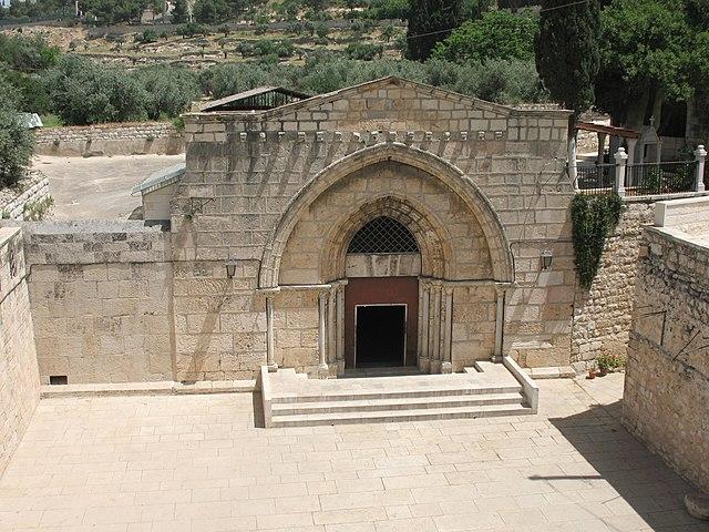 https://upload.wikimedia.org/wikipedia/commons/thumb/5/5d/Mary%27s_Tomb_Jerusalem.jpg/640px-Mary%27s_Tomb_Jerusalem.jpg