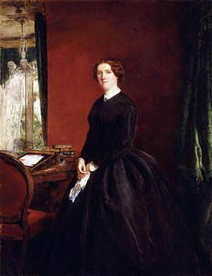Mary Elizabeth Braddon - Mary Elizabeth Braddon by William Powell Frith, 1865