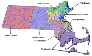 Massachusetts Governor's Council - Image: Massachusetts Councillor Districts 2012