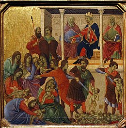 Massacre of the Innocents - Maestà by Duccio - Museo dell'Opera del Duomo - Siena 2016.jpg