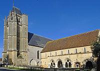 Massay - Abbaye Saint-Martin - Salle capitulaire et tour Chamborand de l'église Saint-Paxent (ancienne abbatiale).JPG