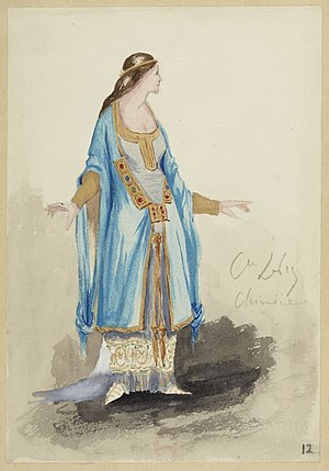 Le Cid - Chimène - Costume for Massenet's Opera based on Le Cid by Ludovic Napoléon Lepic in 1885