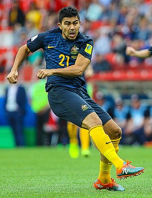 Massimo Luongo - Luongo playing for Australia at the 2017 FIFA Confederations Cup