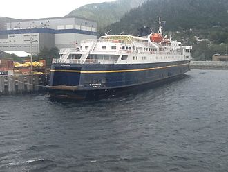 Alaska Marine Highway - The Matanuska at the AMH maintenance docks in Ketchikan