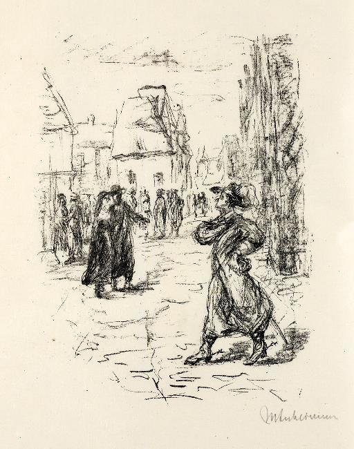 Max Liebermann Illustration Der Rabbi von Bacherach