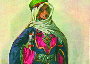History of the Jews in Azerbaijan - Jewish woman from Guba by Max Tilke (19th-century painting)