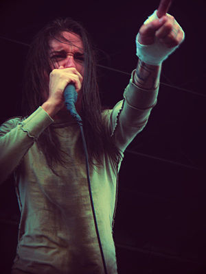 Spencer Chamberlain - Chamberlain performing at 2008's Mayhem Festival with Underoath.