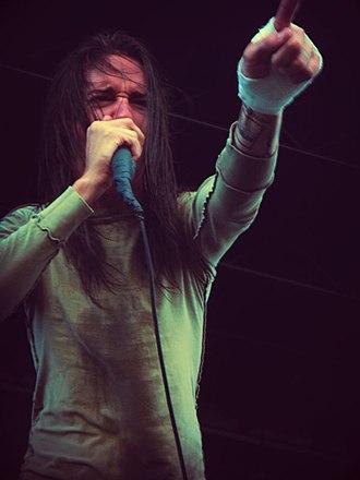 Spencer Chamberlain - Chamberlain performing at 2008's Mayhem Festival with Underoath.