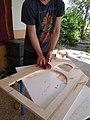 Me sanding the wood.jpg