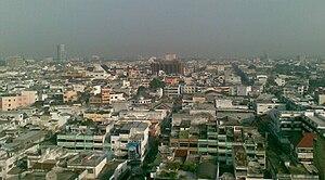 The skyline of Medan, Indonesia