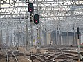 Meitetsu Nagoya Train yard switches, signals and catenaries - panoramio.jpg