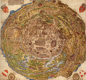 Siege of Vienna - Map of Vienna from 1530