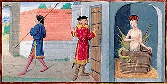 Miniature (illuminated manuscript) - Miniature Roman de Mélusine Guillebert de Mets, 1410.